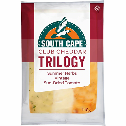 South Cape Trilogy Herb Sundried Vintage Cheddar Cheese 140g