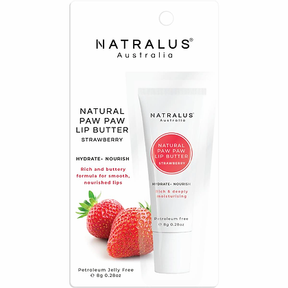 Natralus Natural Paw Paw Lip Butter Strawberry 8g