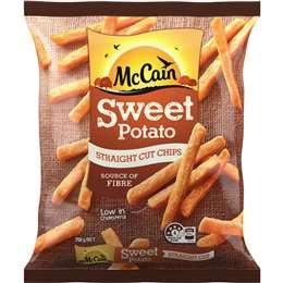 Mccain Straight Sweet Potato Chips 750g