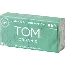 Tom Organic Regular Tampons 16 pack