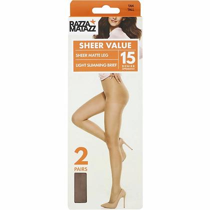 Razzamatazz Pantyhose Control Brazen Tall 2 pack