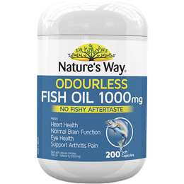 Nature's Way True Odourless Fish Oil Capsules 1000mg 200 pack