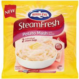 Birds Eye Steam Fresh Potato Mash With Butter 400g