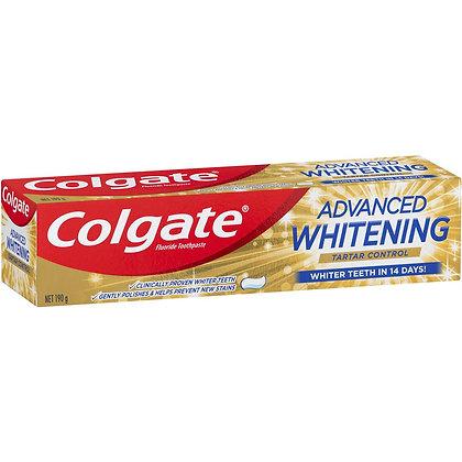 Colgate Advanced Whitening Tartar Control Toothpaste 190g