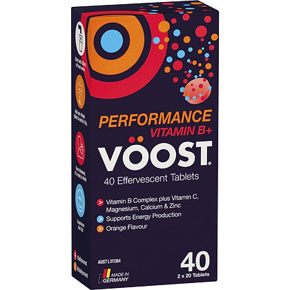 Voost Effervescent Vitamin B+ Performance 40 pack