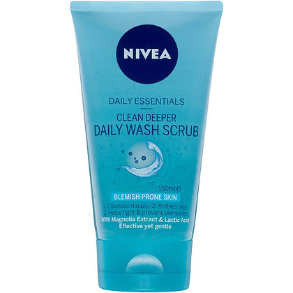 Nivea Daily Essentials Clean Deeper Daily Wash Scrub 150ml