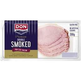 Don Premium Double Smoked Pan Size Bacon 200g