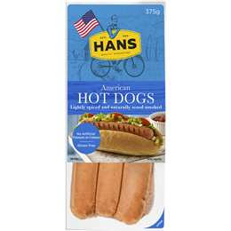 Hans Hot Dogs American 375g
