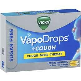 Vicks Vapodrops Cough Sugarfree Lemon 16 pack