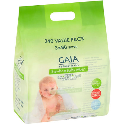 Gaia Baby Wipes 240 pack