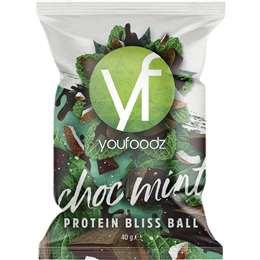 Youfoodz Choc Mint Protein Bliss Ball 40g
