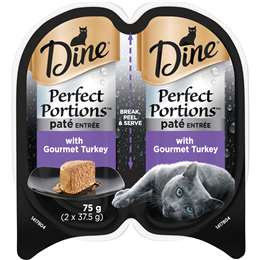 Dine Perfect Portions Pate With Turkey?wet Cat Food Trays 2x37.5g