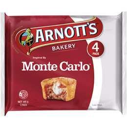 Arnott's Mini Cakes Monte Carlo 4 pack