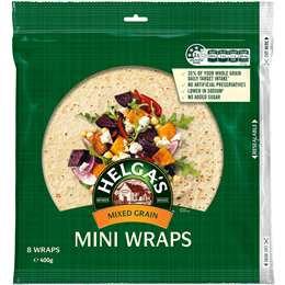 Helga's Mini Wraps Mixed Grain 400g 8pk