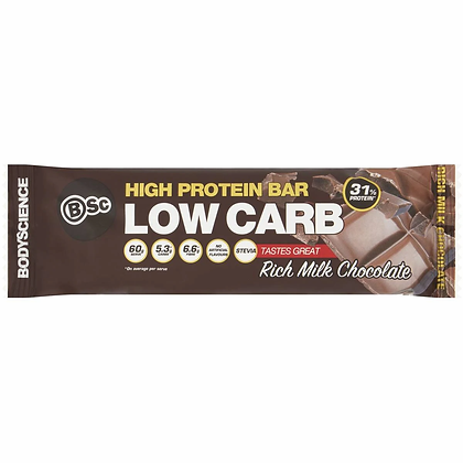 Body Science High Protein Bar Low Carb Rich Milk Chocolate 60g