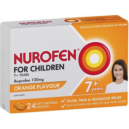 Nurofen For Children 7+ Yrs Chewable Ibuprofen Orange 24 pack