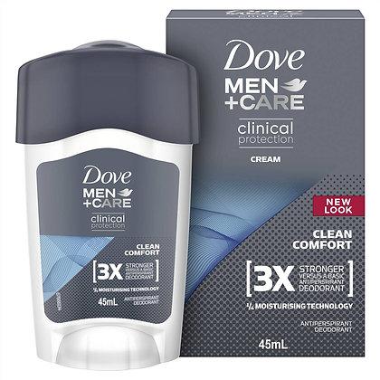 Dove Men Clinical Roll Deodorant Cream Clean Comfort 45ml
