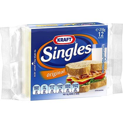 Kraft Cheese Singles Original 12pk 216g