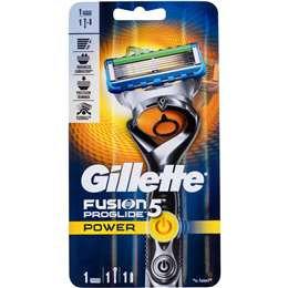 Gillette Fusion Proglide Power Shaving Razor & Battery each
