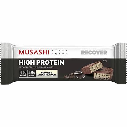 Musashi High Protein Bar Cookies & Cream 90g