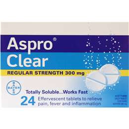 Aspro Clear Pain Relief Soluble Tablets 24 pack