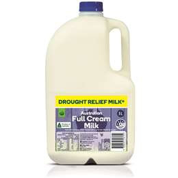 Woolworths Drought Relief Full Cream Milk 3l