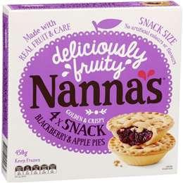 Nanna's Multipack Pies & Desserts Apple & Blackberry Pie 4 pack