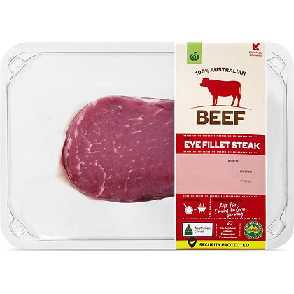 Woolworths Beef Eye Fillet Steak 250g - 550g