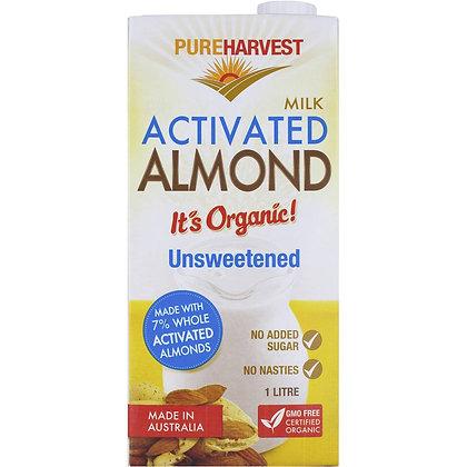 Pureharvest Almond Milk Unsweetened 1l