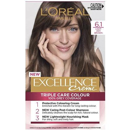 L'oreal Excellence Creme Hair Colour 6.1 Light Ash Brown each