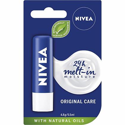 Nivea Original Care Moisturising Lip Balm + Shea Butter 4.8g