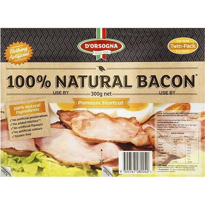 D'orsogna 100% Natural Bacon 300g