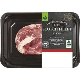 Specially Selected Beef Scotch Fillet Steak 300g - 550g