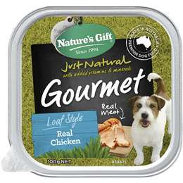 Nature's Gift Adult Dog Food Gourmet Loaf Style Real Chicken 100g