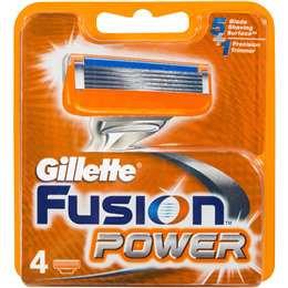 Gillette Fusion Power Shaving Blade Refill 4pk