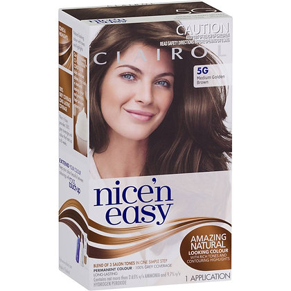 Clairol Nice N Easy 5g Natural Medium Golden Brown each