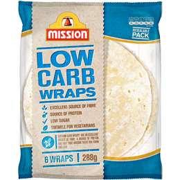 Mission Wraps Low Carb 288g 6pk