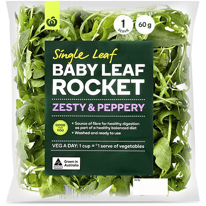 Woolworths Baby Rocket Salad Bag 60g