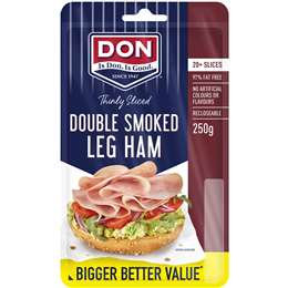 Don Ham Leg Double Smoked Shaved 250g
