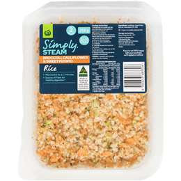 Simply Steam Cauliflower Broccoli & Sweet Potato Rice 250g