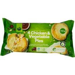 Frozen Chicken & Vegetable Pie 4 pack