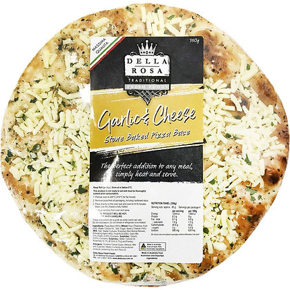 Della Rosa Garlic & Cheese Pizza Base 350g