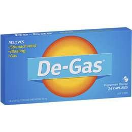 De Gas Antacids Gas Capsules 24pk