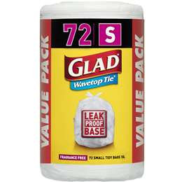 Glad Kitchen Tidy Wavetop Small 72 pack