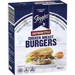 Steggles Southern Style Chicken Breast Burgers 360g