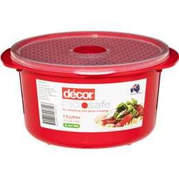 Decor Microsafe Container Round 1.5l