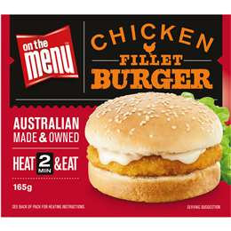 On The Menu Ready Go Eat Burgers Fried Chicken 165g