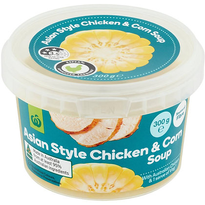 Woolworths Fresh Chicken & Corn Soup Asian Style 300g