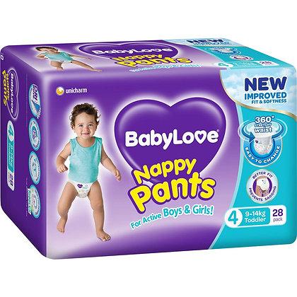 Babylove Nappy Pants Toddler 9-14kg 28 pack