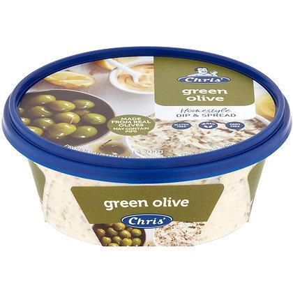 Chris' Dips Green Olive 200g